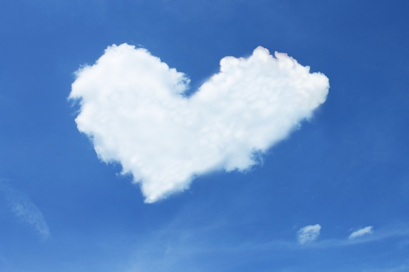 Cloud White Blue Love Heart Sky Loyalty Luck